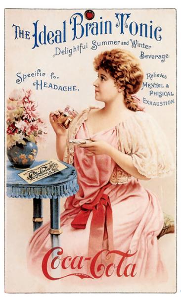 Anuncio de Cola-Cola de la década de 1890. (Suministrada)