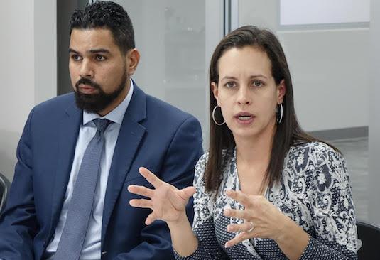 Nuria Ortiz Vargas y Eduardo Carrera Morales