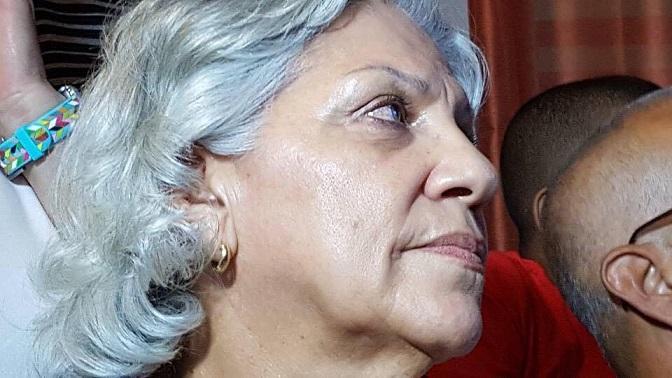 Doña Eva Torres era todo nervios previo al anuncio. (Hermes Ayala - Diálogo)