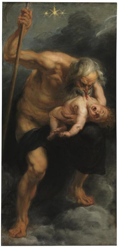 Cronos se alimentaba de los hijos que engendraba para evitar ser destronado. (Pintura de Peter Paul Rubens – Wikipedia)