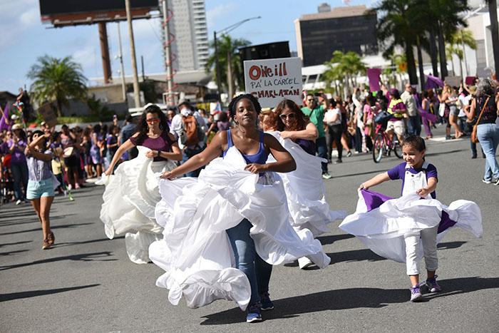 La manifestación estuvo repleta de expresiones artísticas. (Ricardo Alcaraz/Diálogo)