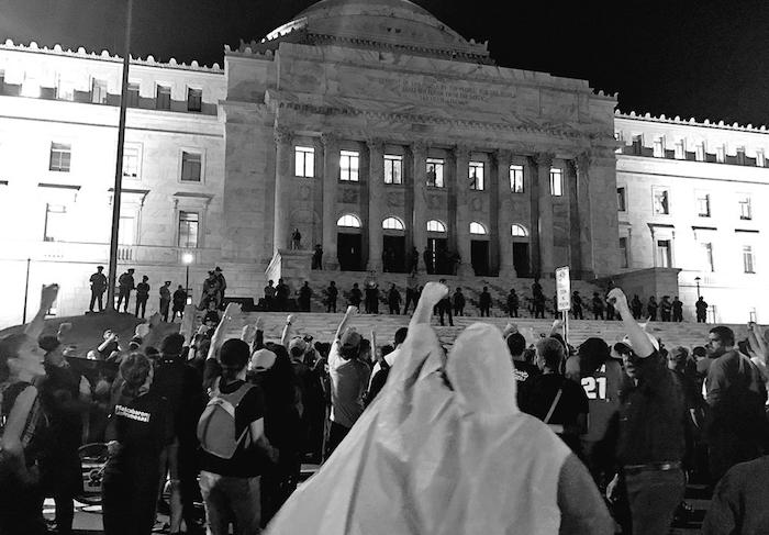 Manifestación Capitolio, contra mensaje de Estado (Adriana De Jesús Salamán / Diálogo)