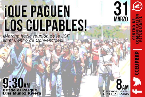 Flyer marcha viernes