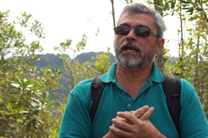 Abel Vale Nieves es portavoz y líder ambiental en la organización Ciudadanos del Karso. (Osvaldo Cortés / Diálogo)