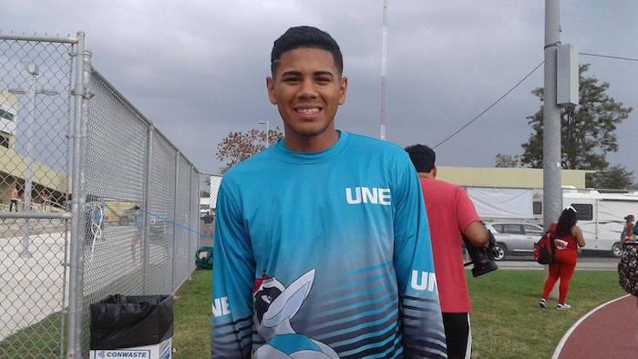 Ramfis Vega, atleta de la UNE
