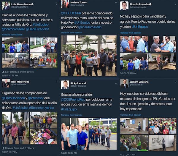 Tweets funcionarios públicos (Twitter)