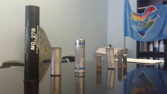 gases lacrimogenos y balas de goma